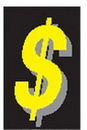 Blank Stock Adhesive Vinyl Automotive Message Slogan -$, 4 1/2
