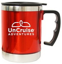 Custom 16 Oz. Red Acrylic Straight Body Travel Mug w/ Stainless Steel Interior, 5 1/4