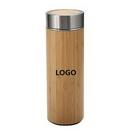 Custom Double wall Stainless steel Bamboo Bottle, 7 7/10