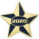 Custom 2020 Blue and Gold Star Pin, 1