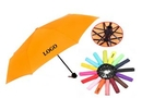 Custom Three Fold Compact Umbrella w/Pouch, 42