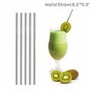 Custom 0.30 Inch Wide Straight Metal Straws, 8.5 Inch Length, 0.30 Inch Diameter, 215*8 MM, 0.30