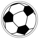 Custom Soccer Ball Notekeeper Magnet- 20 Mil Process Color (3
