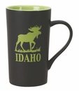 Custom 18 Oz. Two Tone Matte Cafe Mug, 5 3/4
