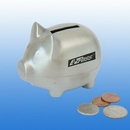 Custom Small Brushed Silver Piggy Bank( screened )