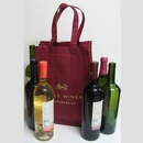 Custom 6 Bottle Non-Woven Wine Bag - Screened, 9 1/2