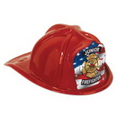 Custom Red Plastic Jr. Firefighter Hat