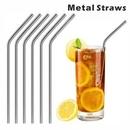 Custom Bent Metal Straws, 8.5 Inch Length, 0.25 Inch Diameter, 215*6 MM, 0.25