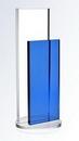Custom Crystal Blue Endeavor Award, Small, 3 3/8