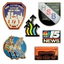 Custom Lapel Pin / Imitation Cloisonne' Die Struck Resin Enamel (1-1/4