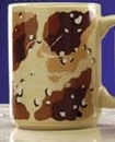 Custom 15 Oz. Camouflage Brown Ceramic Mug