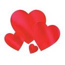 Custom Foil Heart Cutouts, 9