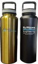 Custom 40 Oz. Stainless Steel Vacuum Insulated bottle with screw-on lid