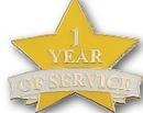 Custom 1 Year of Service Pin