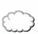 Custom Cloud Notekeeper Magnet- 35 Mil Process Color (2
