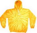 Custom Spider Gold Tye Dye Pullover Hoodie
