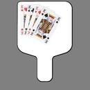 Custom Hand Held Fan W/ Full Color 4 Kings Card Hand, 7 1/2