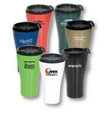 Custom 16 Oz. Double Wall Insulated Travel Tumbler w/ Black Slider Lid, 6.75