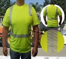 Custom Safety T Shirt Ansi Class 2 With Segmented Tape