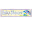 Custom Baby Shower Sign w/ Tissue Parasol, 8
