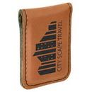 Custom Rawhide Laserable Leatherette Money Clip, 1 3/4