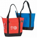 Custom Poly Zipper Top Tote Bag with 24