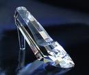 Custom Faceted Slipper Award - Optic Crystal (2 1/2