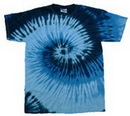 Custom Blue Ocean Tye Dye T-shirt