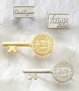 Custom Series 3600 Economical Sandblast Brass Lapel Pin (Up to 3/4