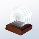 Custom Octagon glass coaster set, 3 3/4