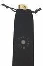 Custom Black Velveteen Pull String Sack
