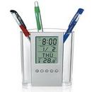 Custom Multi-functional Alarm Clock Pen Holder, 4