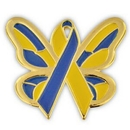 Custom Down Syndrome Butterfly Lapel Pin