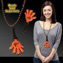 Custom Orange & Black Hand Clapper W/ Attached J Hook, 7