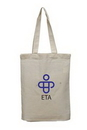 Custom Lightweight Cotton Tote Bag with Bottom Gusset, 9