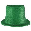 Custom Green Glittered Top Hat