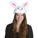 Custom Plush Bunny Head Hat