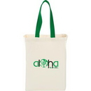 Custom Cotton Canvas Grocery Bag with Colored Handles, 14