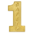 Custom #1 Safety Gold Lapel Pin, 1