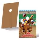 Custom Corrugated Cardboard Derby Standee, 4' W x 8' H