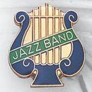 Blank Music Lyre Pin w/Jazz Band Bar, 1