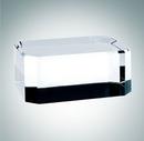 Custom Optional Rectangle Optical Crystal Base, 1 5/8