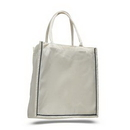 Custom Fancy Shopper with Color Stripe, 15