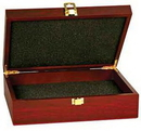 Custom Rosewood Finish Gift Box, 7 3/4