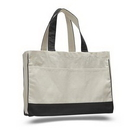 Custom Canvas Gusset Tote with Self Fabric Handles, 17