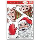 Custom Santa & Elves Peepers Clings, 12