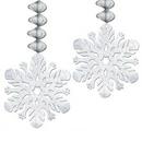 Custom Foil Snowflake Danglers, 30