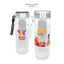 Custom 20 oz. Durable Clear Glass Bottle with Screw on Lid, Full Color Digital