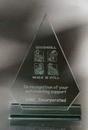 Custom Arrowood Award - Jade Glass (9 1/2