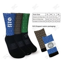 Custom ATHLETIC SOCKS with Holiday Design TOP - Imprint in USA